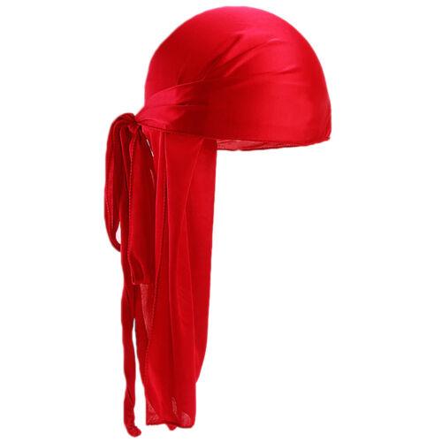 Men Women Silk Durag Bandanna Turban Hat Doo Rag Biker Headwear Headband Gift