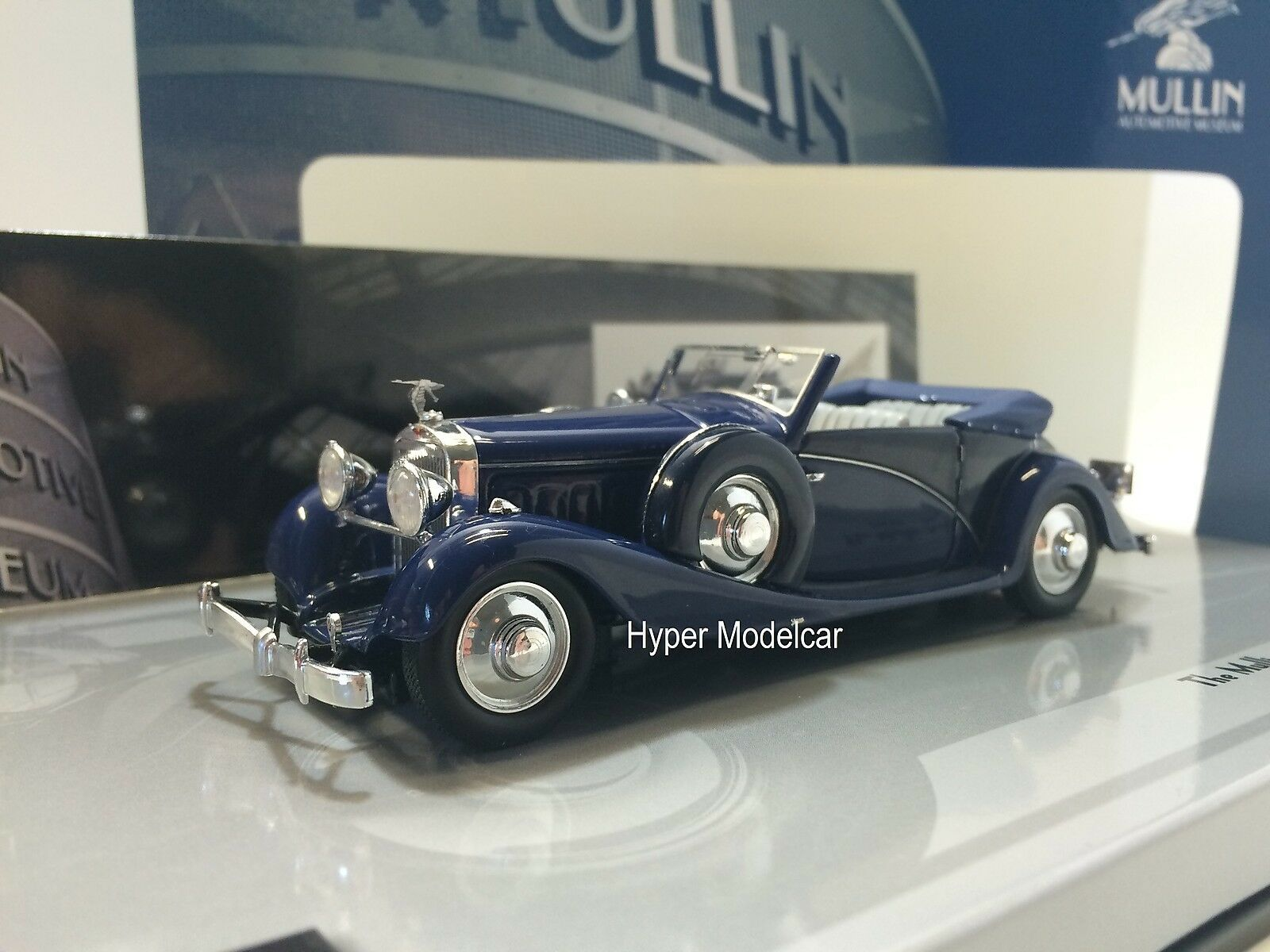 MINICHAMPS 1 43 Hispano Suiza J12 Cabriolet 1935 bleu The Mullin Art. 43709030