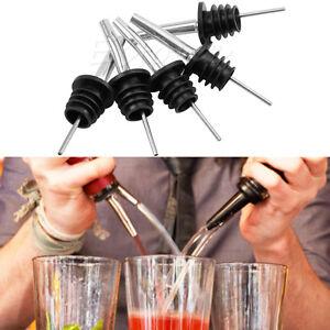 5X Liquor Spirit Pourer Free Flow Wine Bottle Pour Spout Stopper Stainless Steel