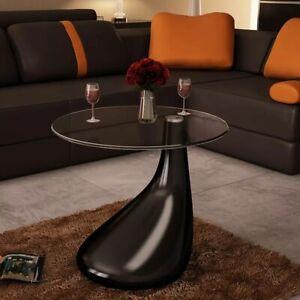 vidaXL Tavolino da salotto moderno soggiorno vetro nero ...