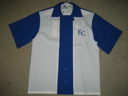 KANSAS CITY ROYALS BOWLING SHIRT WITH CLASSIC BACK