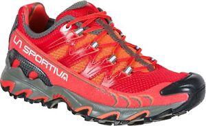 La Sportiva Ultra Raptor w's scarpa donna trail running red hibiscus flamingo