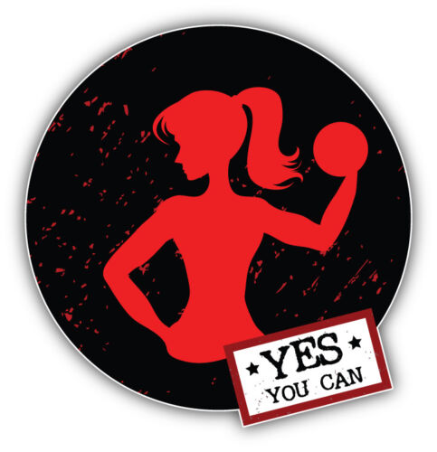 Yes You Can Woman Fitness Sport Label Car Bumper Sticker Decal /'/'SIZES/'/'