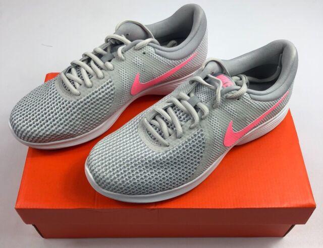 a88756a04e1 Women s Nike Revolution 4 Pure Platinum Sunset Pulse Shoes 908999-016 NEW