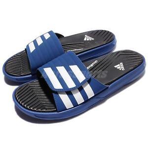 Adidas izamo CF azul blanco Hombres Sandal Slide zapatillas s77988 eBay