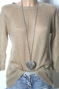 ZARA-Pullover-Gr-M-S-beige-3-4-Arm-Strick-Damen-Pullover