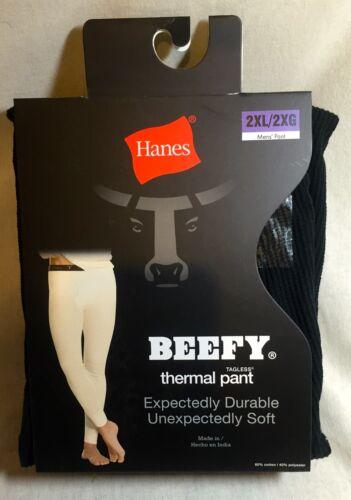 XL Hanes Noir Ou Blanc Beefy Tagless Thermal Pantalon-M 2XL L