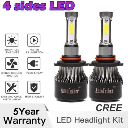 HB3 9005 WHITE CREE LED FRONT MAIN HIGH BEAM LIGHT BULBS KIT VS XENON HID LAMP