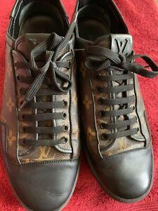 afdff1940f9 Details about Authentic Louis Vuitton Slalom Monogram Canvas Sneakers Size  8 - Brown / Black
