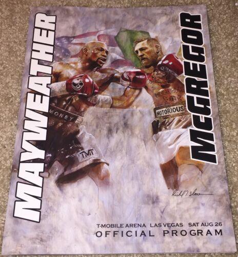 FLOYD MAYWEATHER JR CONOR MCGREGOR OFFICIAL FIGHT PROGRAM BOXING MAYMAC UFC 1