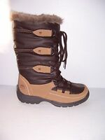 Totes Emily Brown Lace-up Waterproof Women's Cold-weather Boots Size 6