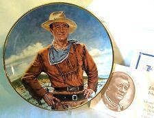"Franklin Mint John Wayne Duke LE #6821 Porcelain 8"" Plate Cowboy Old Western"