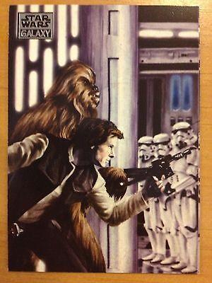 Topps 2012 Star Wars Galaxy Series 7 #17 Facing A Frozen Fate MINT Han Solo