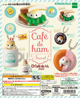 Epoch Capsule Animal Cute Hamster Cafe de ham Sweet Completed Set 6pcs