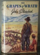 JOHN STEINBECK THE GRAPES OF WRATH 1ST/1S IN ORIGINAL CLIPPED DJ 1939