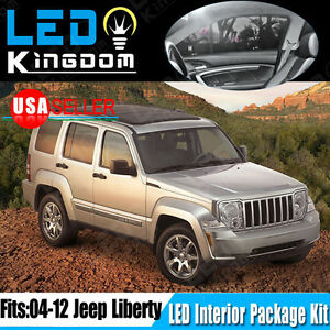 18pcs Super White Smd Led Lights Interior Package Kit For 2004 2012 Jeep Liberty Ebay