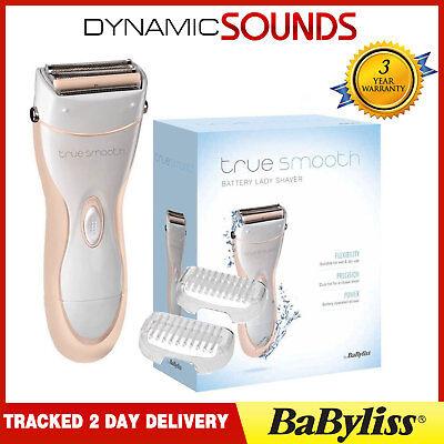 BABYLISS 8771BU Signore Wet /& Dry Senza Fili Batteria LADY DONNA RASOIO Remover