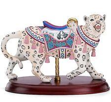 Lenox Carousel Snow Leopard Figurine on Wood Base Limited Edition New