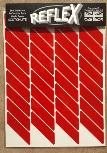 Black White 3M Scotchlite Reflective Reflex A4 Sticker Pack 32 Wheel Tabs Large