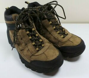 43320902f8a Details about Men's Ozark Trail Brown/Black Leather Waterproof Hiking Boots  Size 7 Trail Camp