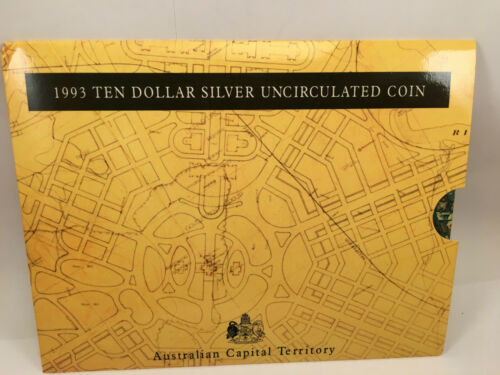 1993 $10 Uncirculated Silver Coin State Series Australian Capital Territory