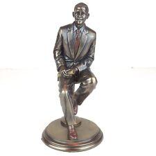 """Mr President Barack Obama Bronze Figurine Miniature Statue 8""""H New"""