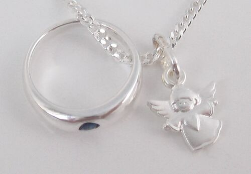 Mädchen Junge Schutzengel Engel Kette Echt Silber 925 Taufkette Taufschmuck