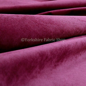 10-Metres-Of-Luxurious-Plump-Chenille-Invitingly-Soft-Upholstery-Fabric-In-Pink