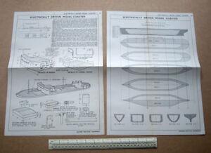 1950s Model Plans Electrically Driven Model Coaster. Newnes Practical Handyman
