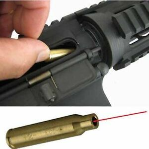 US Hunting .223 REM Laser Red Dot Cartridge Bore Sight 5.56 Nato Boresight Scope