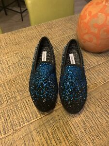 82bff3d647b Details about Steve Madden Men's CLIMAX CRYSTAL ENCRUSTED OMBRE FADE  LOAFERS BLACK SUEDE 8.5