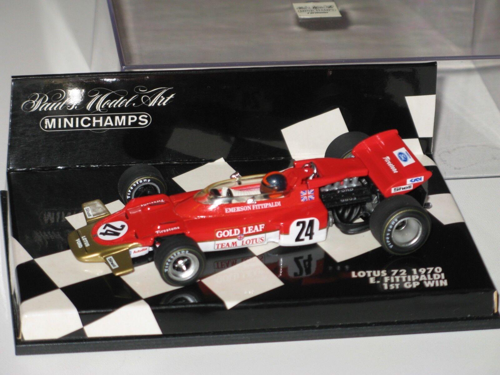 Lotus 72-WIN  GP 1970-Fittipaldi-f1 1 43 SPARK MINICHAMPS  édition limitée chaude