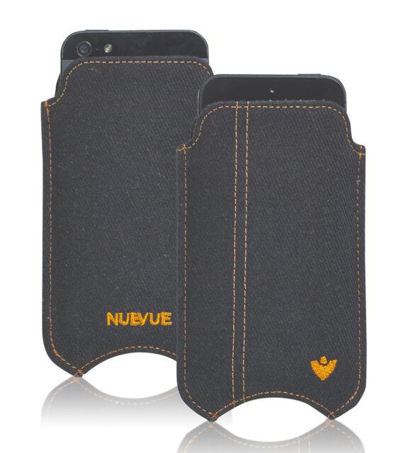 Pour Apple Iphone Se 5 Noir Coton Sergé Nuevue Écran Nettoyage Pochette