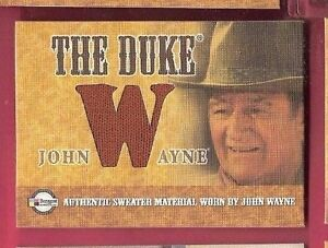 JOHN-WAYNE-034-THE-DUKE-034-AUTHENTIC-WORN-SWEATER-MATERIAL-SWATCH-RELIC-CARD-034-W-034