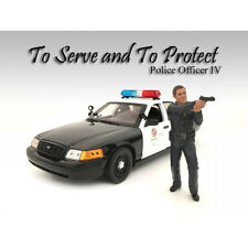AMERICAN DIORAMA 1:18 POLICE OFFICER IV - Vehicle Figure AD-24014