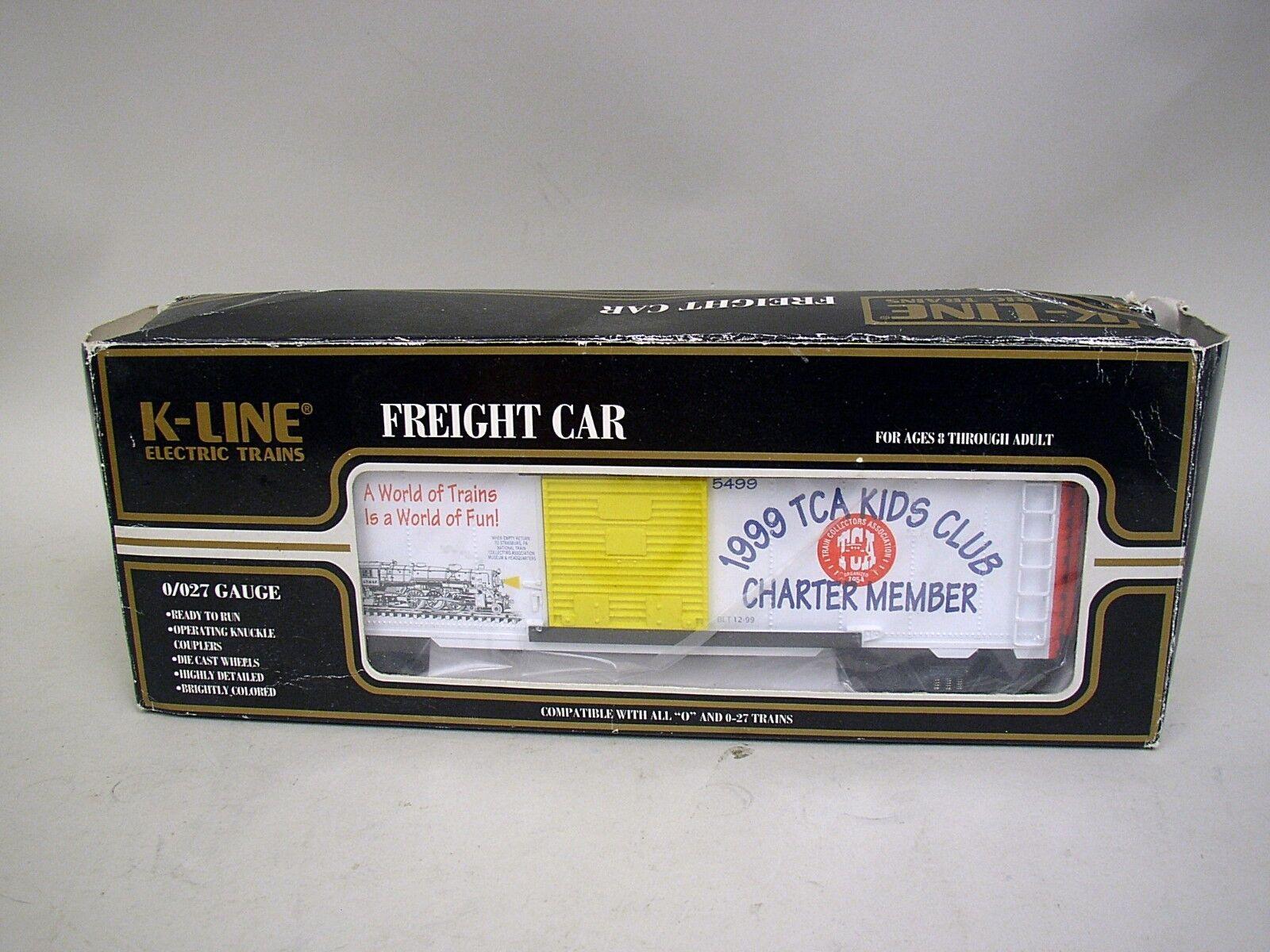 K-Line 1999 TCA Charter Memership Kid's Club Car NRFB - 0 027 Guage