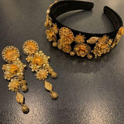 Black & Gold Baroque Headband Only