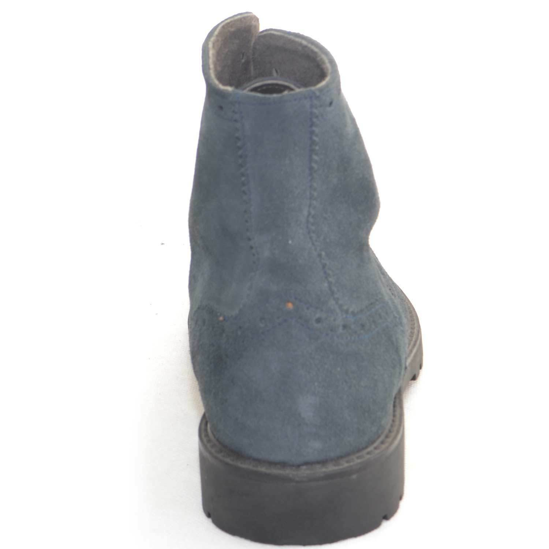 Calzature uomo fondo Anfibio francesina vera pelle scamosciata blu fondo uomo roccia antisc 9e0dbe
