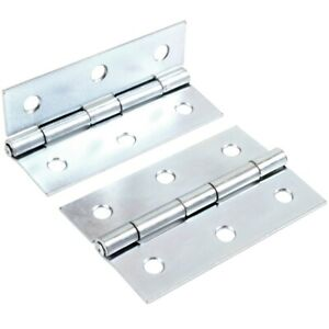 20x Zinc Plated Table Hinges 10 Pairs 38mm