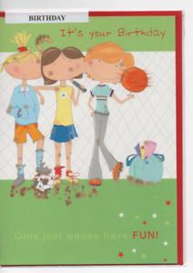Carte Neuve Joyeux Anniversaire Ado Mixte 14 X 19 5 Cm Ebay
