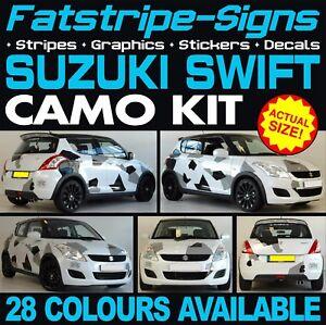 SUZUKI SWIFT CAMO GRAPHICS STICKERS STRIPES DECALS SPORT SZR - Car show stickers