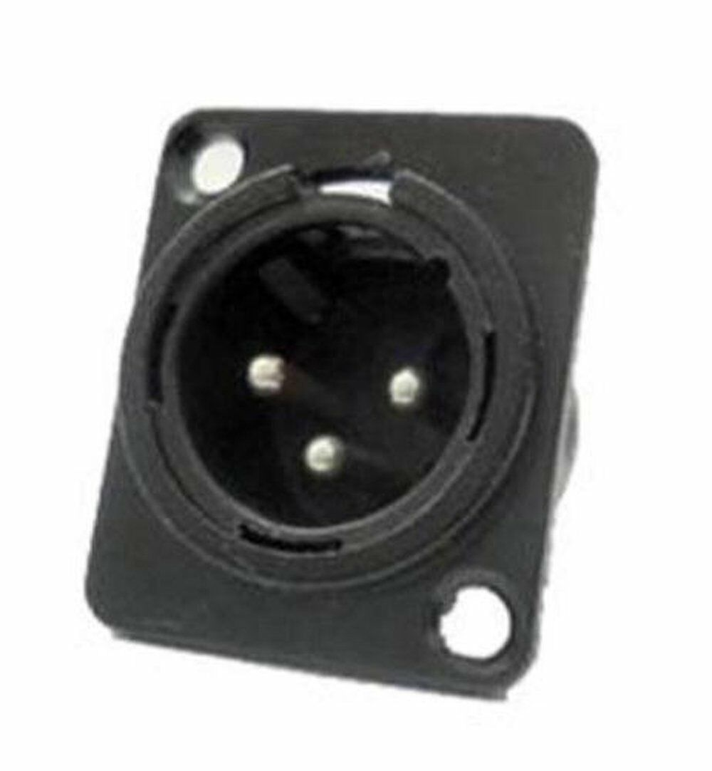 100 Pack ProCraft PXLRMP-B Panel Chassis Mount Male XLR Connector schwarz Metal