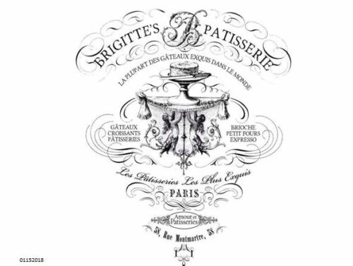 VinTaGe IMaGe PaRiS FRenCh PasTrY SHoP SiGN ShaBby WaTerSLiDe DeCALs FuRNiTuRe