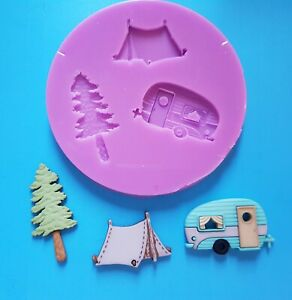 CAMPING-CARAVAN-SILICONE-MOULD-FOR-CAKE-TOPPERS-CHOCOLATE-CLAY-ETC