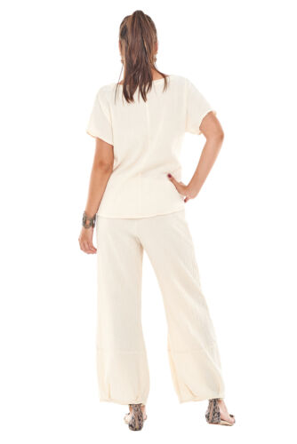 Oh My Gauze  Savannah Pants 100/% Comfortable Cotton Lagenlook