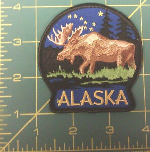 Embroidered-Alaska-Patch-Moose-Alaska-New-in-package-iron-on-Big-Dipper