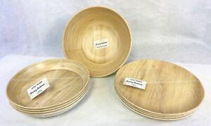 Tommy-Bahama-Melamine-Faux-Wood-Serving-Bowl-Dinner-Plates-Pasta-Salad-Bowls