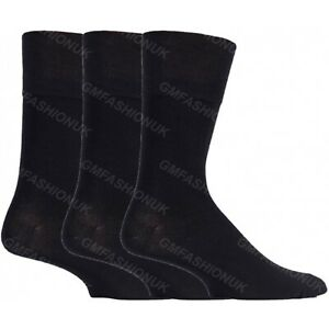 d766588419e8 3 Pairs Mens Plain Black Cotton Rich Dress Work Suit Socks Size UK 6 ...