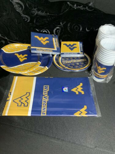 1 Cups Plates West Virginia Party Pack Napkins And a Tablecloth Neb