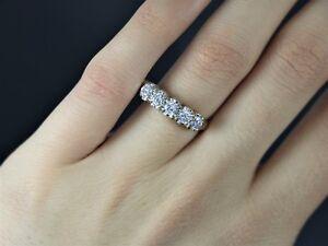 K yellow gold stone round diamond wedding band anniversary